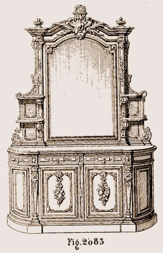 Buffet Louis XIII d'ébénisterie moderne