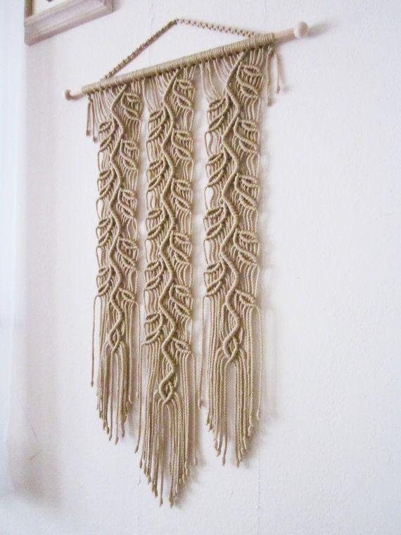 Macrame Wall Hanging Sprigs 4 Handmade Macrame Home by craft2joy