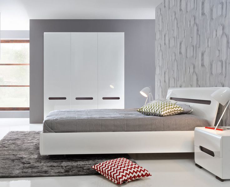 Glossy White Bedroom Furniture Awesome Decorating Design