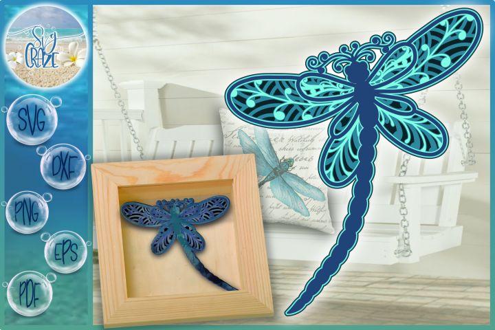 Download 3D Dragonfly Mandala Multi Layered Mandala SVG in 2020 ...
