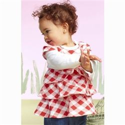 Baby Romper Red & White Checkered