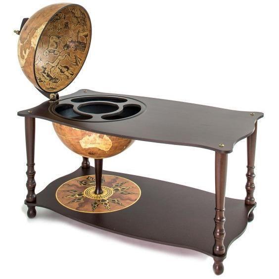 "Zoffoli ""Botticelli"" Coffee Table With Globe Drinks Cabinet - Rust"