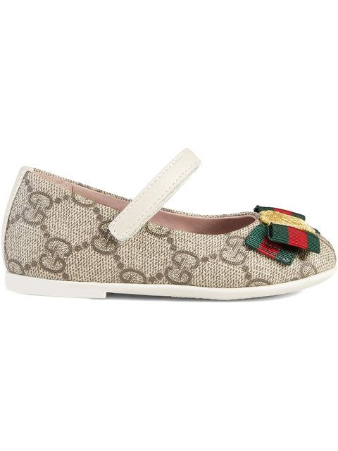 29299614e26a00 Gucci Kids Toddler GG Supreme Ballet Flat