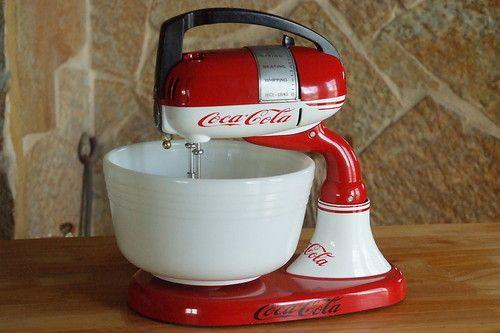 Refurbished vintage Dormeyer mixer Maybe Dr Pepper logo instead of Coke