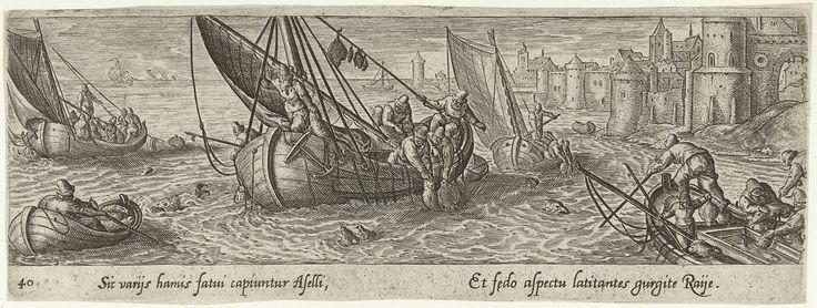 Visvangst op zee, Hans Bol, Theodoor Galle, 1582