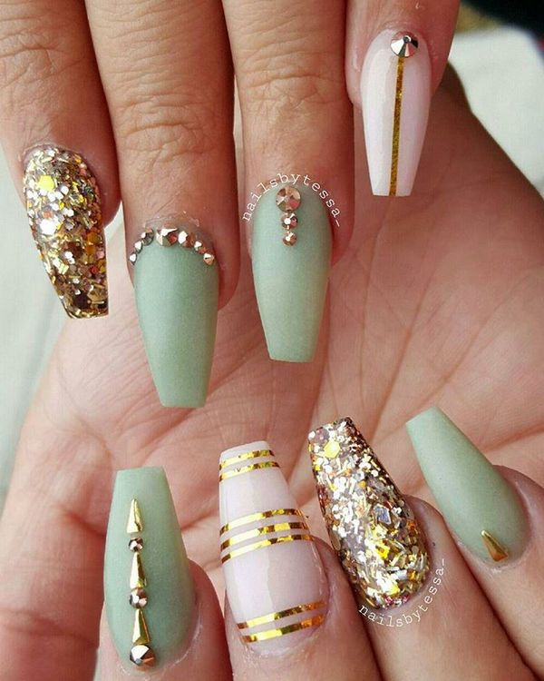 m s de 1000 ideas sobre coffin nail designs en pinterest