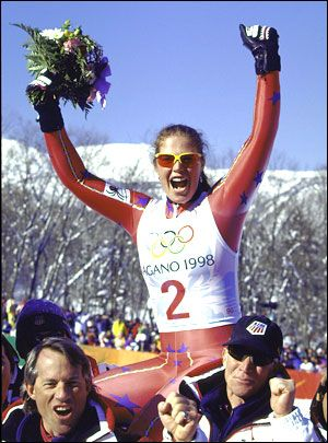 Picabo Street struck surprising Olympic gold in the Super G in '98.
