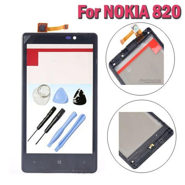 Lumia 820 Original Écran Tactile Digitizer Remplacement Avec Cadre Pour NOKIA Lumia 820 N820 Capteur LCD En Verre Fenêtre Cover + outils