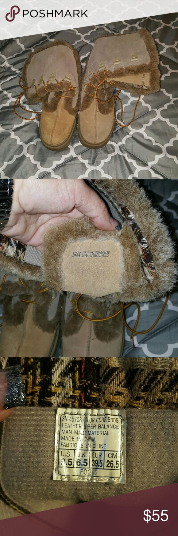 Sketchers boots great condition Really cute boots Skechers Shoes Lace Up Boots