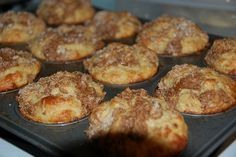 Low Carb Cinnamon Crumble Coffee Cake Muffins by Pam Tremble