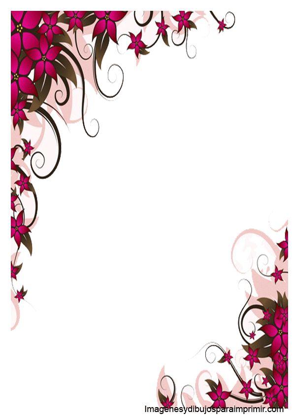 borde con flores para word  u2026