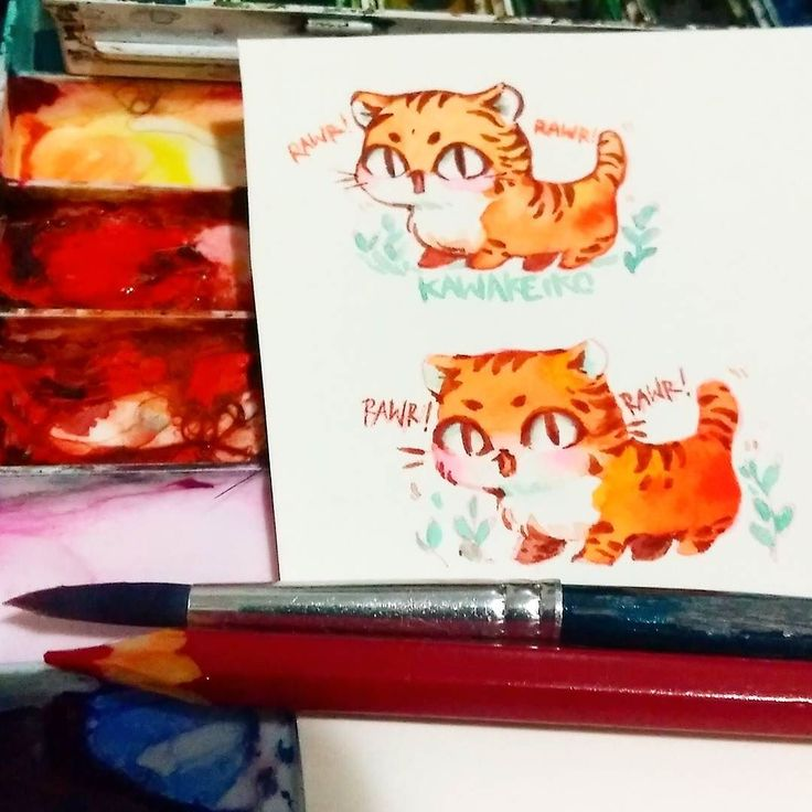 Tiger is my chinese zodiac  what's yours? . (Watercolor  Fabriano hot pressed paper) #tiger #zodiac #chinese #watercolor #art #drawing #cute #painting #illustration #fabriano