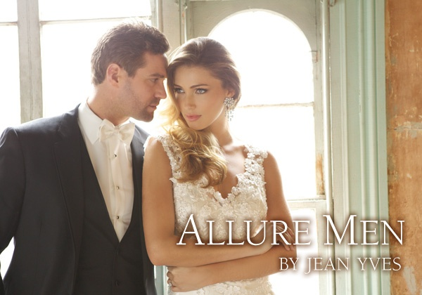 Onyx Allure Men by Jean Yves www.JeanYves.com www.AllureBridals.com