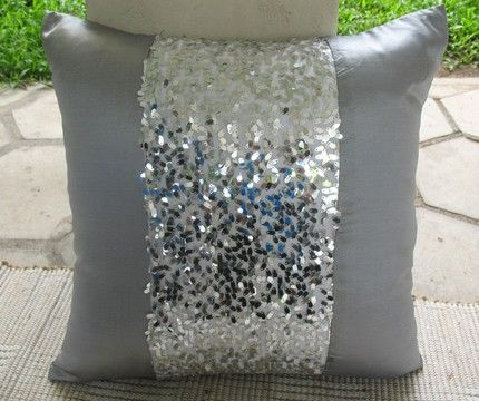 Silver gray sequin embellished accent cushion and throw pillow 18 inch    comfyheaven   Housewares on. 17 Best ideas about Silver Bedroom on Pinterest   Silver bedroom