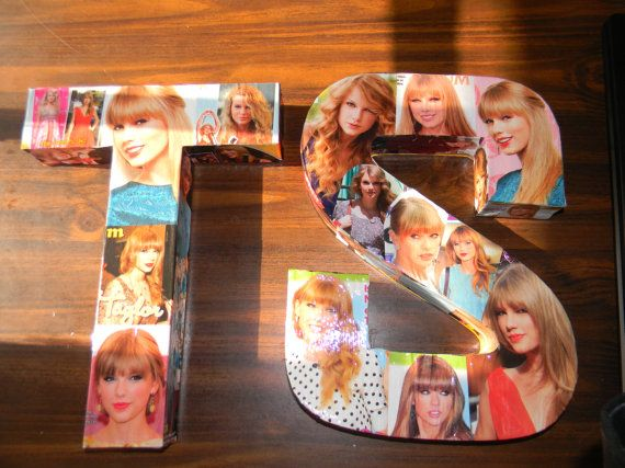Taylor Swift collage letters. Made to order by CollageLetters, $10.00