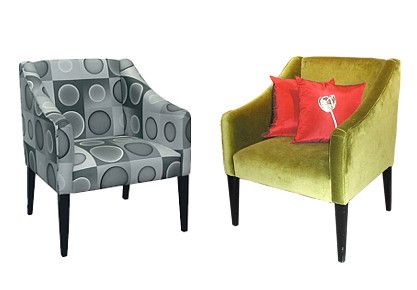 Kiwi fotel kávéházak és modern lakóterek berendezéséhez.