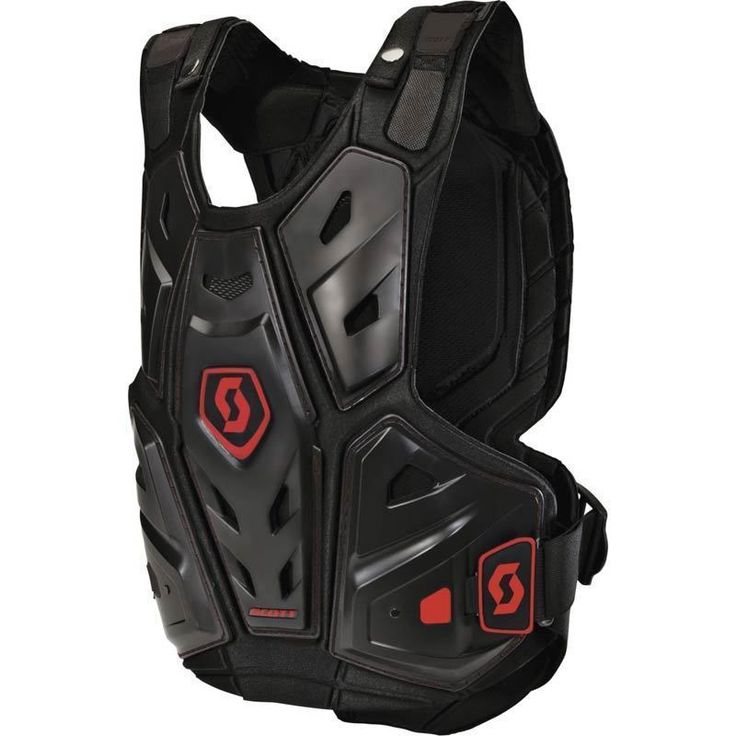 Scott COMMANDER Body Armor (BLK/RED) *LEATT Compatible*