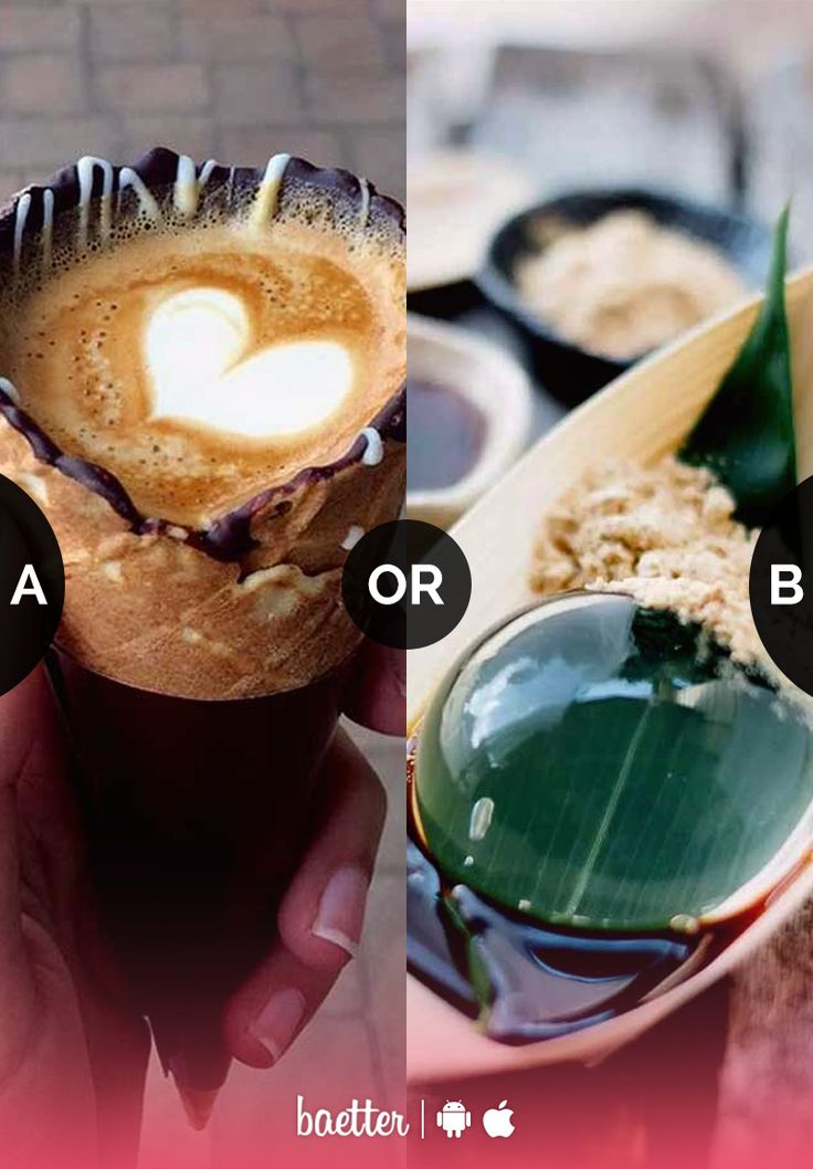 Which crazy food trend do you want to try #CoffeeCone or #RaindropCake? Vote on Baetter App