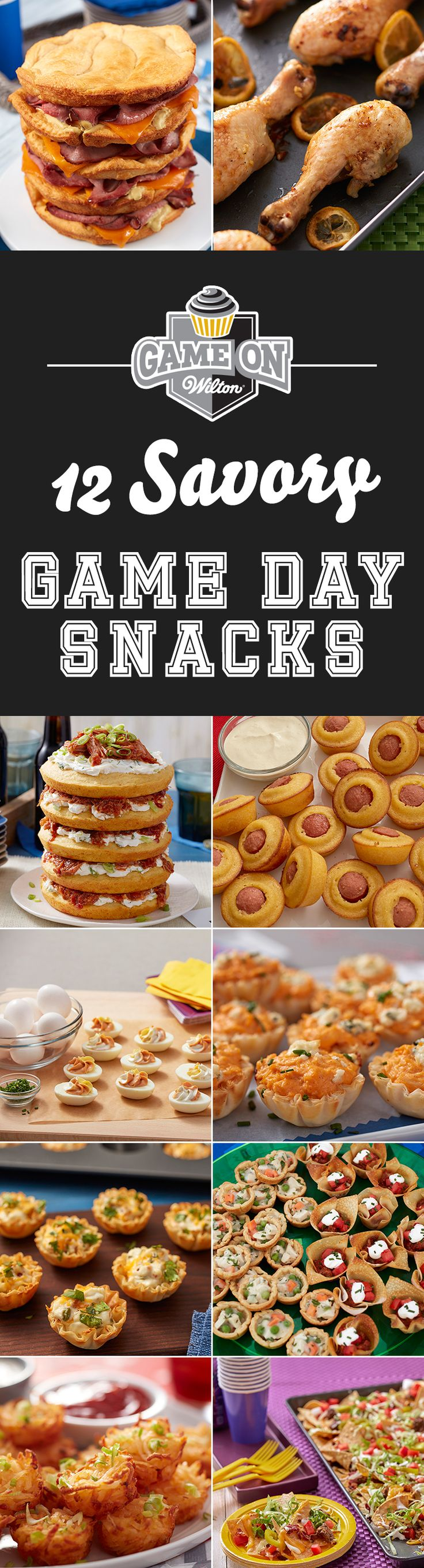 12 Savory Game Day Snacks - Football games and indulgent, comforting, savory food just seem to go hand in hand. Whether you're watching the game at home, at a friend's house or tailgating at the stadium, these 12 savory game day snacks are sure to get your snack game on!