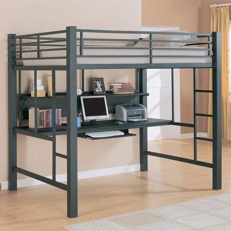 shop coaster fine furniture workstation loft bed with builtin desk at atg stores