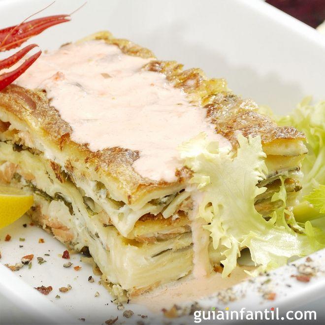 Lasaña de atún y verduras, receta económica y nutrit
