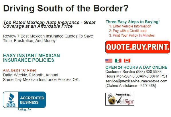 Mexican Car Insurance Compare 7 Mexican Insurance Rates