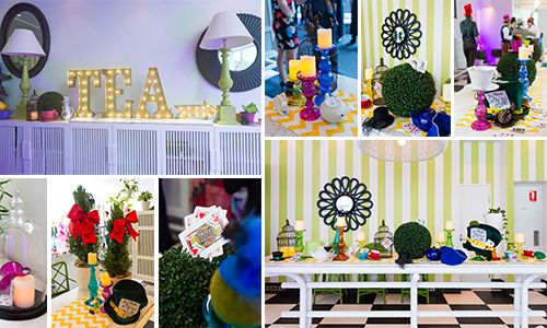 Alice in Wonderland and Mad Hatter Event Ideas #madhatter #eventstyling #events #Melbourne #teaparty #aliceinwonderland #design #businessevents #corporateevents