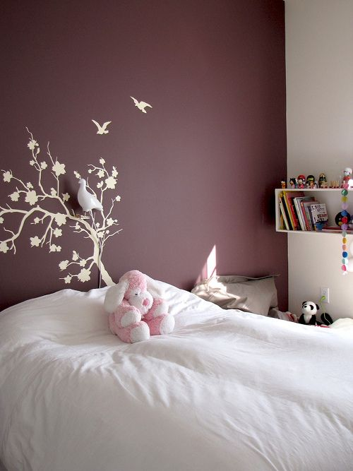 Sneak Peek: Best of Purple. Plum walls add an air of femininity to Si Mazouz daughter's bedroom without being too girly. #sneakpeek