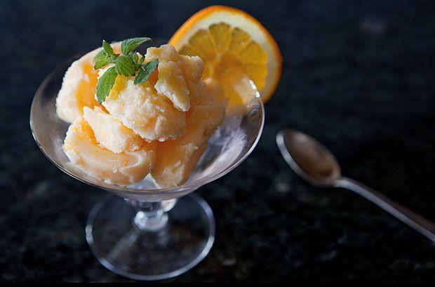 Glassrecept - en enkel liten mandarinsorbet