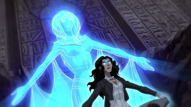 Season 2 Episode 18 Intervention: Zatanna summoning the power to free both Green Beetle & Blue Beetle from the Reach