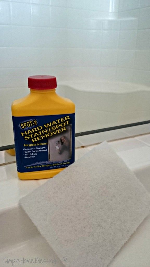 How to clean glass shower doors 1 spot x hard water stain - Bathroom cleaner for hard water stains ...