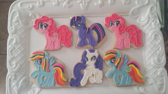 my little pony cookies by CoutureSweetTreats on Etsy, $30.00