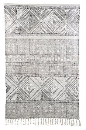 House Doctor Vloerkleed Spring black/white 180X180 cm - Styling & Co.