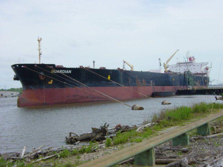 Aframax double hull crude oil tanker