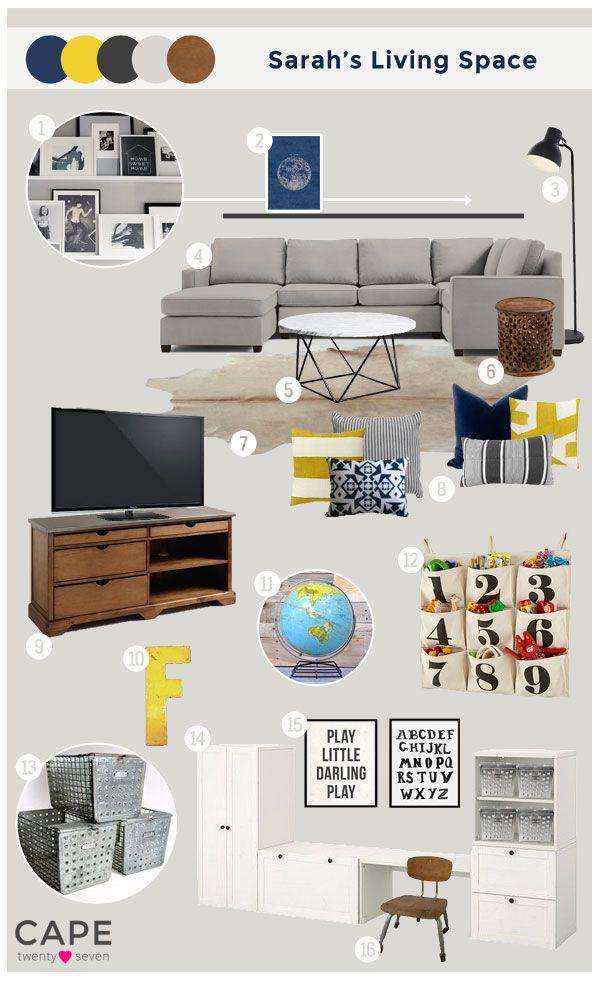Cape 27 Custom Mood Boards: Sarah's Living Space