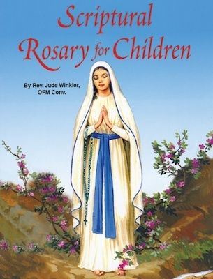 This new, illustrated book uses Scripture to help children to reflect on the 20 Mysteries of the Rosary. The Scriptural Rosary for Children is a perfect first Rosary meditation book for your child and would make a great gift for a child's First Holy Communion. (http://store.casamaria.org/the-scriptural-rosary-for-children-fr-jude-winkler/)