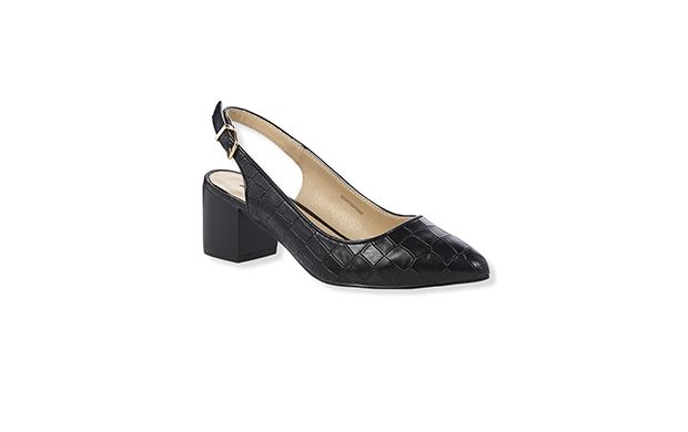 "Block Heel Court Shoe. ""For stylish shoes that will see you through the day, this mid-heel style is the perfect choice."""