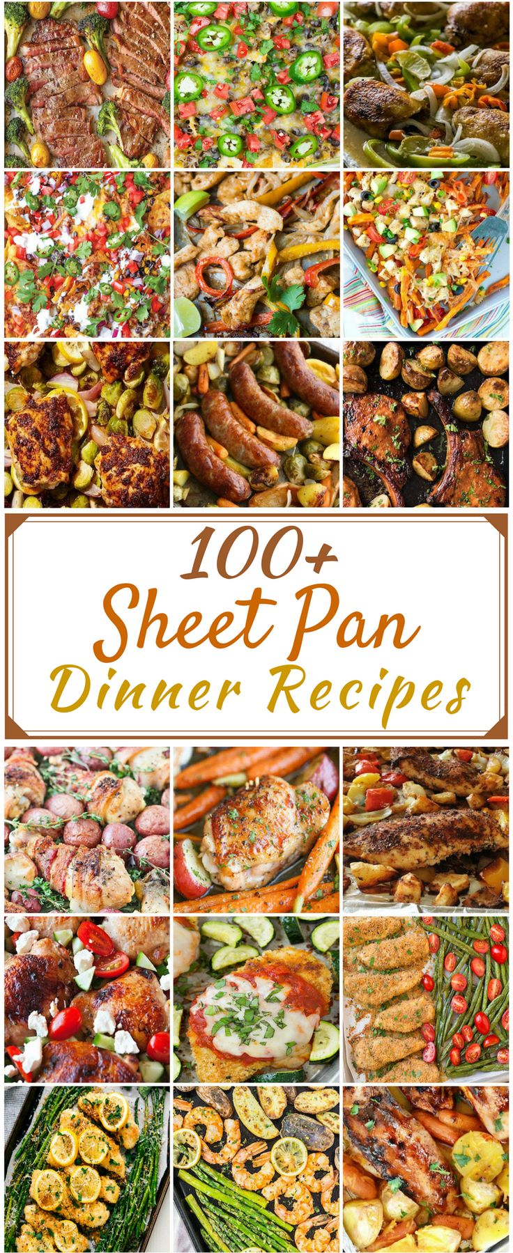 100+ sheet pan recipes via @__PennyPincher #Dinner #Recipes