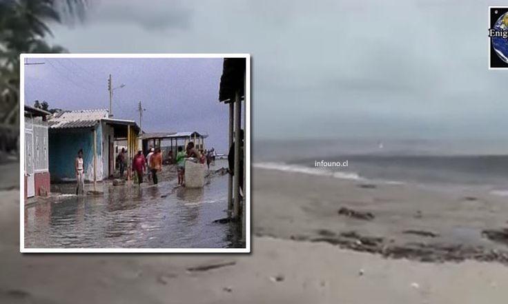 Un tsunami anómalo envolvió la costa caribeña de Colombia, inundando diferentes partes de la costa cerca de Santa Marta el 19 de julio de 2017. Las autoridades dicen que el repentino aumento del nivel del mar -50 cm / 1.6 pies- tuvo lugar alrededor de las 13:20 UTC (08:20 hora local) y no se...