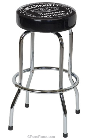 Jack Daniels Label Bar Stool