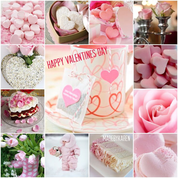 Happy Valentine's day collage