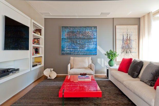 Decoracao Da Sala De Tv ~ Acerte na decoração da sala de TV  Mesas, Casa e TVs