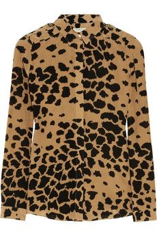 Burberry London Animal-print silk shirt   NET-A-PORTER