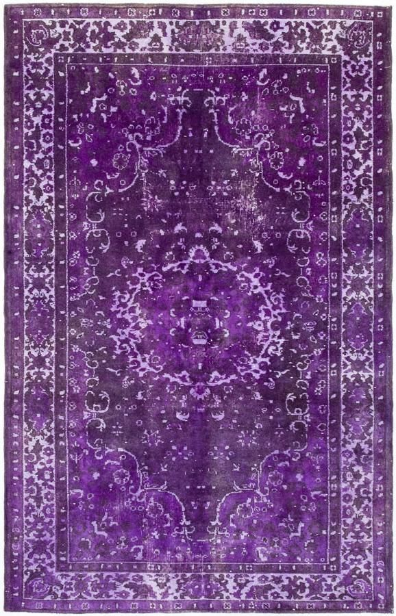 Purple overdyed Persian style carpet