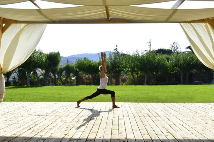 Yoga at an amazing place in Crete. Combine yoga and vacation. Read more at our blog article http://blog.capsis.com/2016/08/02/yoga-holiday-in-crete/ #yoga #crete #holiday #agiapelagia #heraklion #wellnes #fitness #namaste
