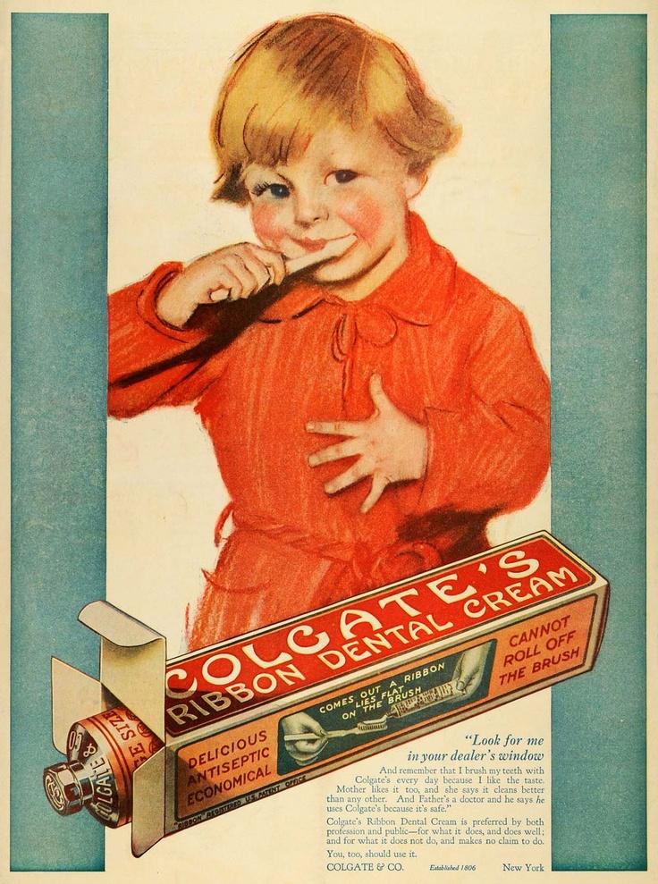 Vintage (1918) Ad for Colgate