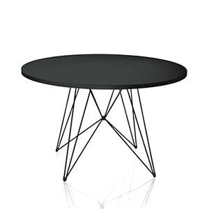 Magis - Tavolo XZ3 rundt - hvid  Designer: Studio Tecnico Magis for Magis.  Med sit legende netværk af krom og med den vedligeholdelsesfrie bordplade, er dette bord både facinerende at se på og praktisk i brug.  Materiale: Stellet leveres i krom og bordpladen fremstilles af MDF med en hvid polymeric overflade.  Mål: Ø: 120 cm. H: 74 cm.  4.749,00
