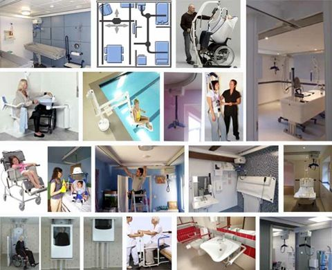 Ceiling hoists, disability hoists and patient handling equipment