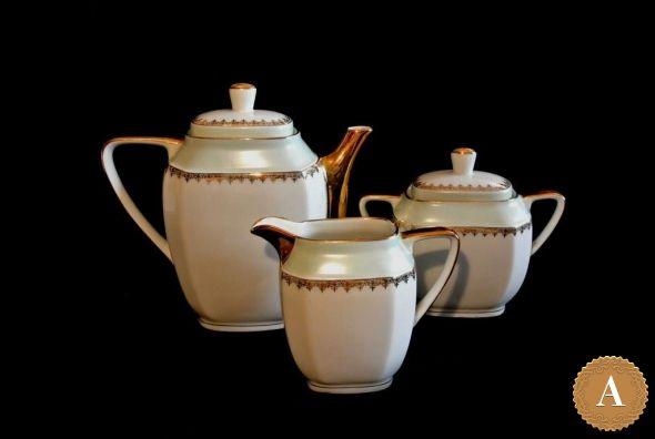 Чайник, сахарница и молочник. Франция, середина ХХ века.
