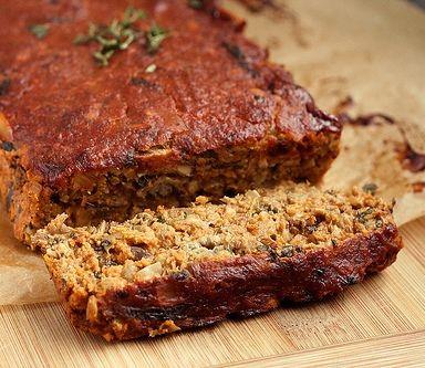"The best Lentil ""Meat"" Loaf you will ever have. (gluten-free + vegan)"